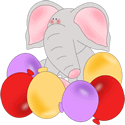 Elephant Birthday Balloons