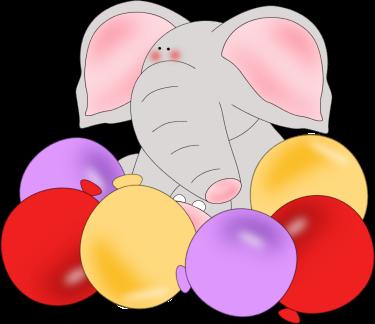 Elephant Birthday Balloons