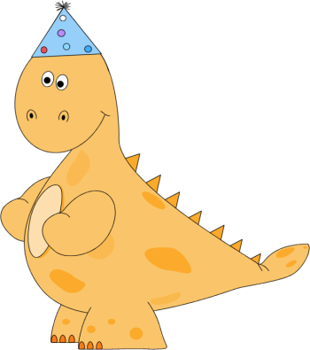 Orange Dinosaur Birthday Party Hat