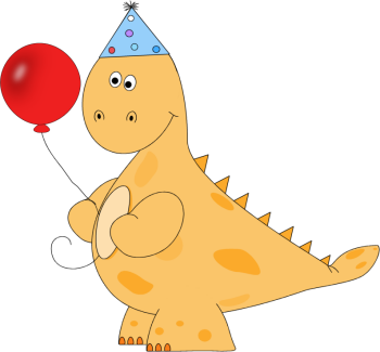 Orange Dinosaur Birthday Party