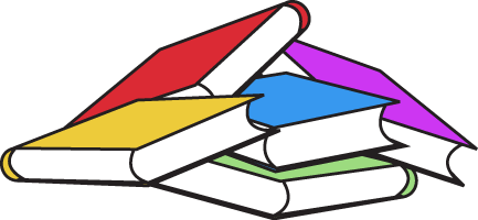 Image result for colorful books clipart