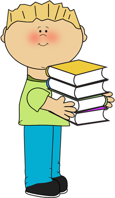 Boy Carrying School Books