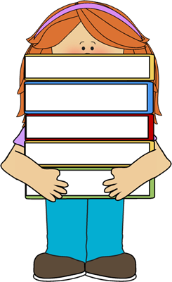 Image result for girl with books clip art