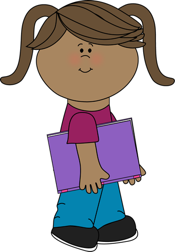 Girl Walking with a Book