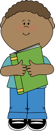 Little Boy Hugging a Book