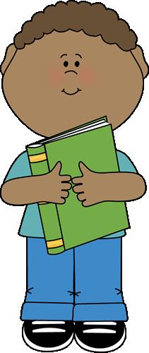 Little Boy Hugging a Book
