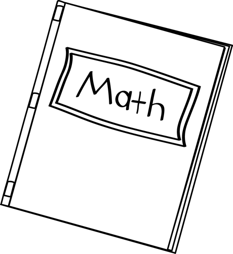 Black and White Math Book