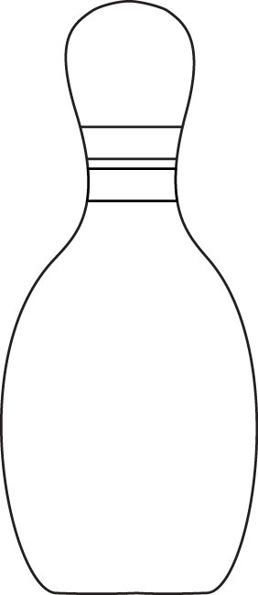 Black & White Bowling Pin