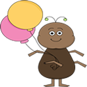 Ant with Balloons