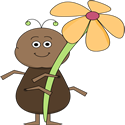 Ant with a Flower