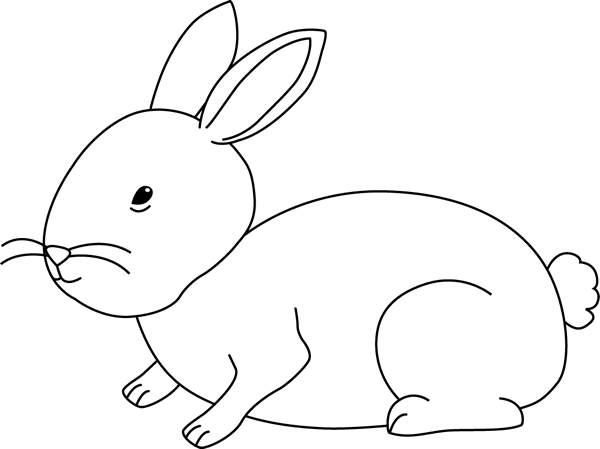 Black and White Bunny Rabbit Clip Art - Black and White ...