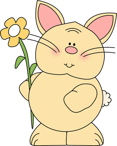 Bunny with Yellow Flower