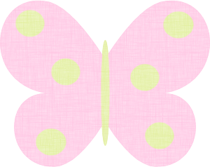 Pink Polka Dot Butterfly