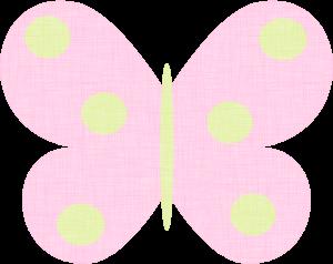 Pink Polka Dot Butterfly