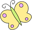 Yellow and Purple Butterfly