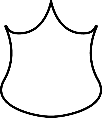 Black and White Police Badge