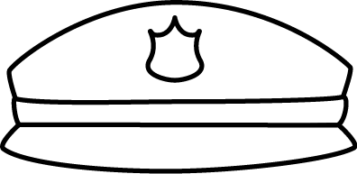 Black and White Police Hat