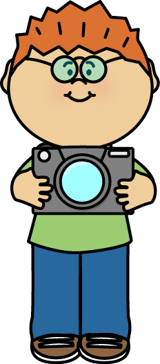 Boy with a Camera Clip Art - boy wearing glasses and holding a camera