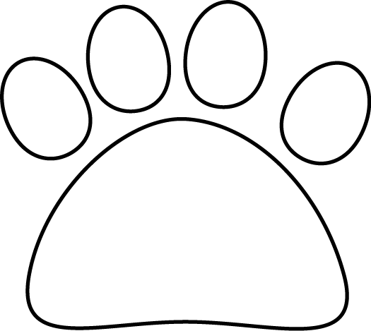 Black and White Cat Paw