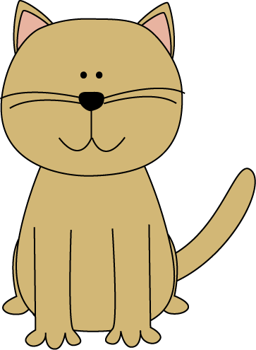 Cute Cartoon Cat Clip Art - Cute Cartoon Cat Image
