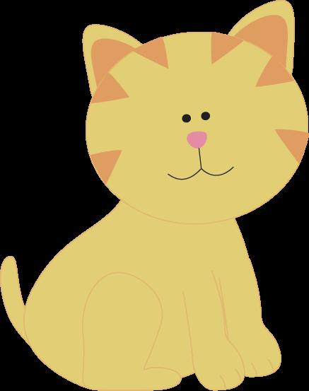Cute Yellow Cat Clip Art - Cute Yellow Cat Image