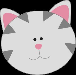 Gray Kitty Cat Face