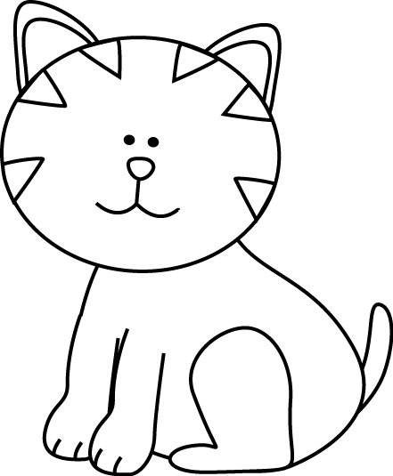 black and white kitten clip art black and white kitten image rh mycutegraphics com Kitten Coloring Pages Flower Clip Art