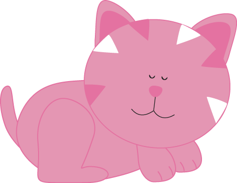 Pink Cat Sleeping