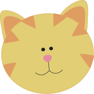 Yellow Cat Face Clip Art - Yellow Cat Face Image