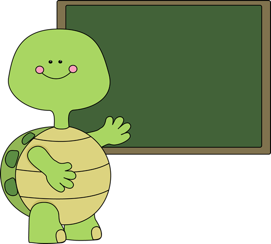 Turtle and Chalkboard