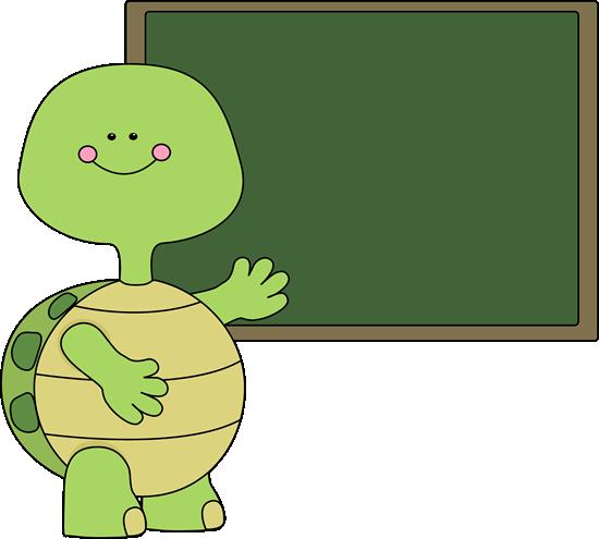 Turtle and Chalkboard