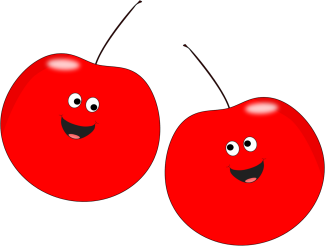 Two Smiling Cherries
