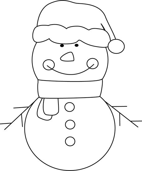 Black and White Christmas Snowman