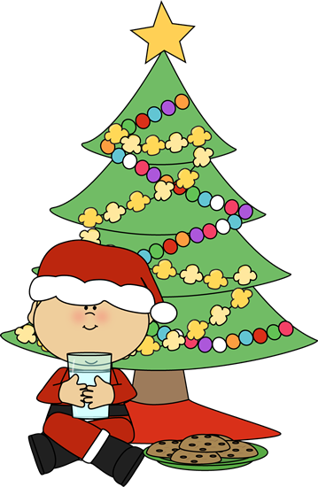 Boy Santa With Cookies And Milk Clip Art Boy Santa With Cookies