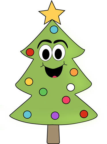 Cartoon Christmas Tree Clip Art - Cartoon Christmas Tree Image