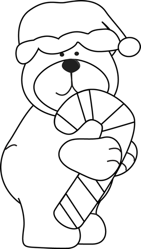 Black and White Christmas Bear