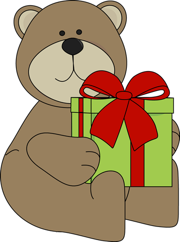 Christmas Bear with Gift