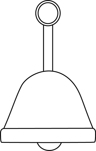 Black And White Christmas Bell
