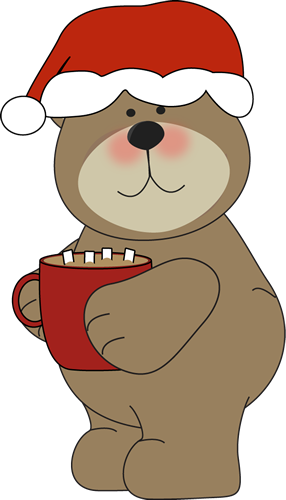 Christmas Bear Drinking Cocoa Clip Art - Christmas Bear Drinking ...