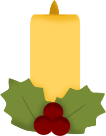 Christmas Candle and Ivy