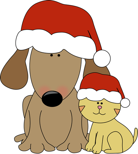 Christmas Dog and Cat