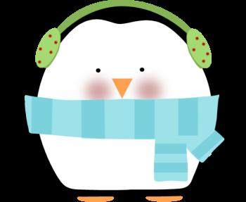 Christmas Penguin Clip Art Image