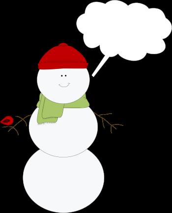 Christmas Snowman Callout Clip Art