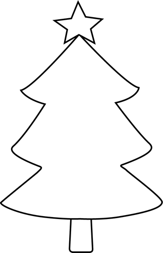 Black and White Blank Christmas Tree