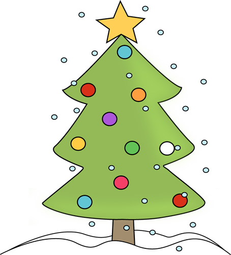 Christmas Tree in the Snow Clip Art - Christmas Tree in ...