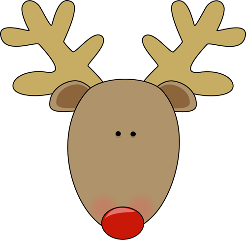 Cute reindeer head clipart - photo#1