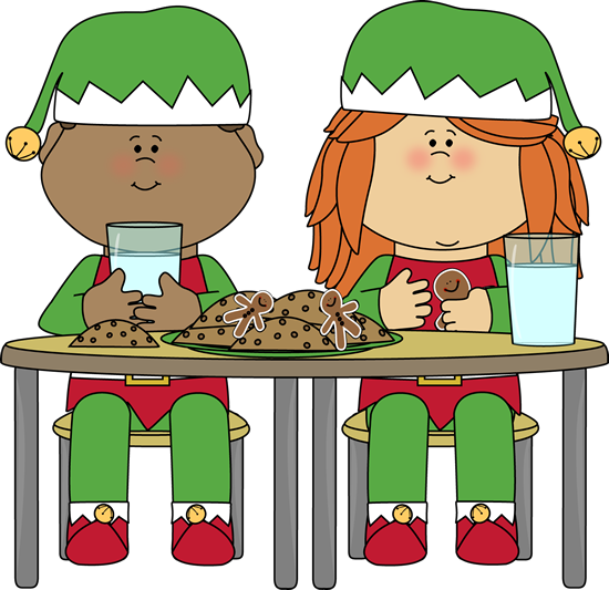 Elves Eating Christmas Cookies