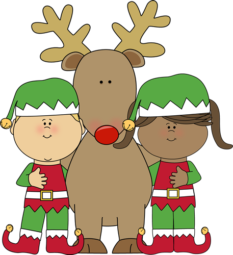 Christmas Elves with Reindeer