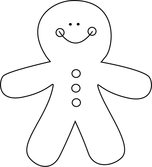 Black and White Gingerbread Man