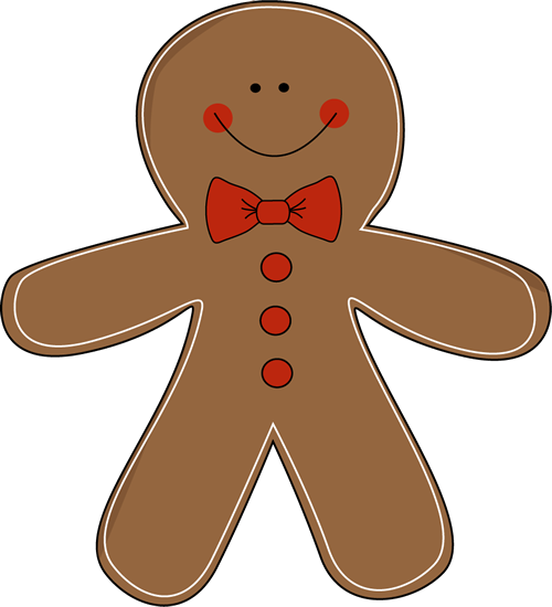 Gingerbread Man Wearing a Bow Tie